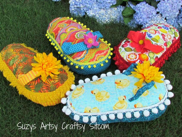 flip flop pillow tutorial and pattern