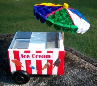 ice cream cart bank tutorial