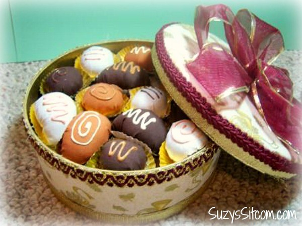 box of chocolates pin cushion