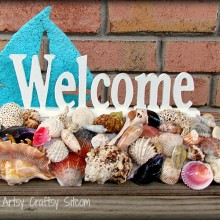 seashell welcome sign tutorial