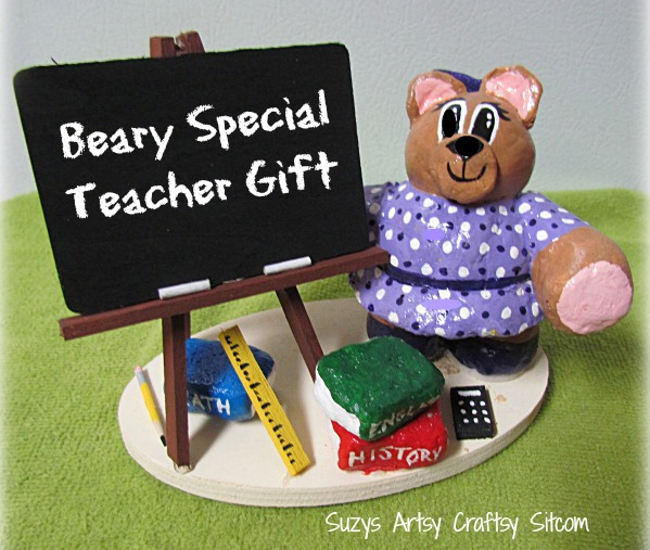 teacher gift personalized bear craft