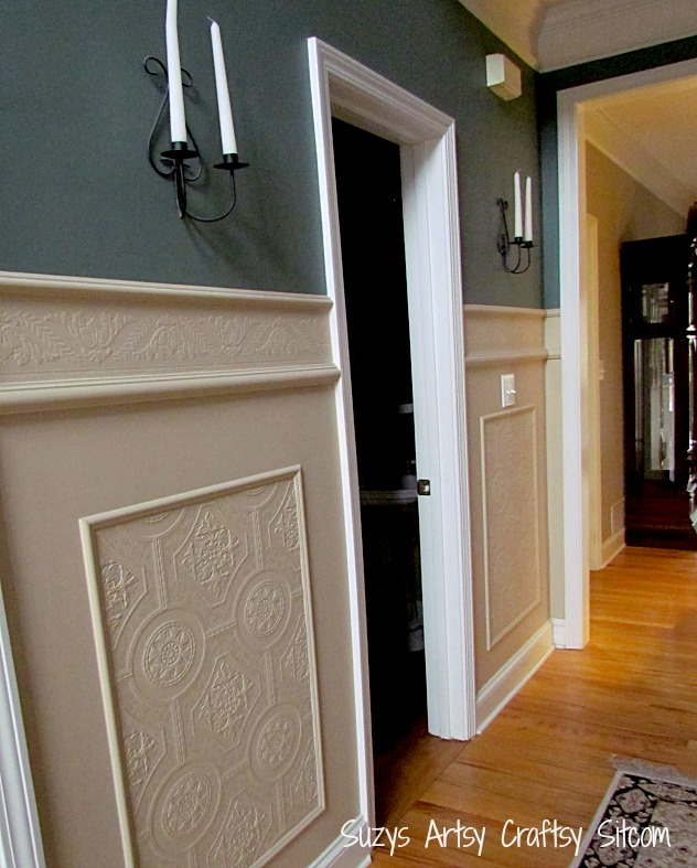 Kitchen Wall Wainscoting: Using Paintable Textured Wallpaper To Create A Whole New Look