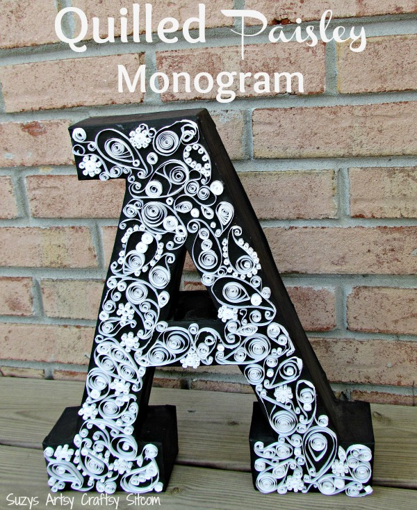 quilled paisley monogram