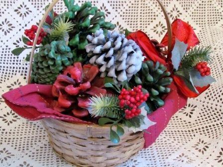 Pine Cone Firestarter Gift Basket / Suzys Artsy Craftsy Sitcom #gift #Christmas
