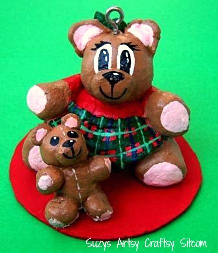 diy bread dough christmas bear ornament