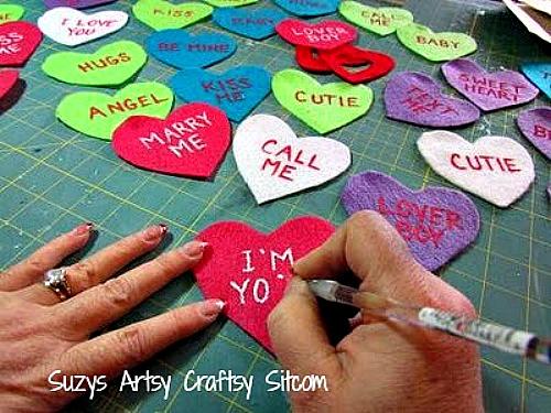 diy valentines conversation heart soaps