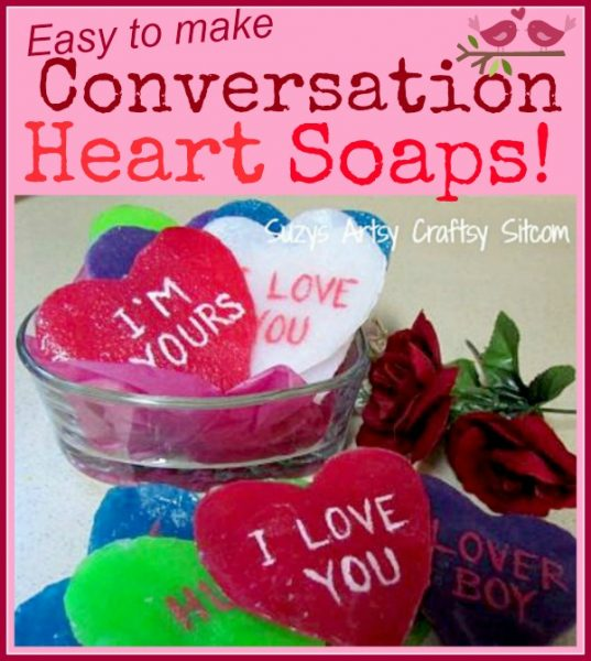 diy conversation heart soaps