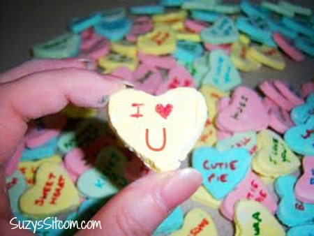 homemade conversation hearts valentines day