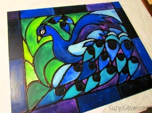 how to make faux stained glass