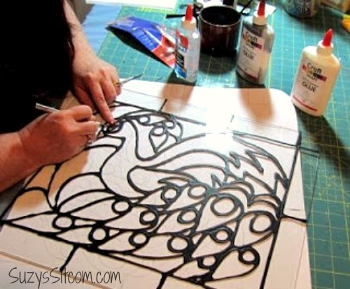 beautiful faux stained glass creations