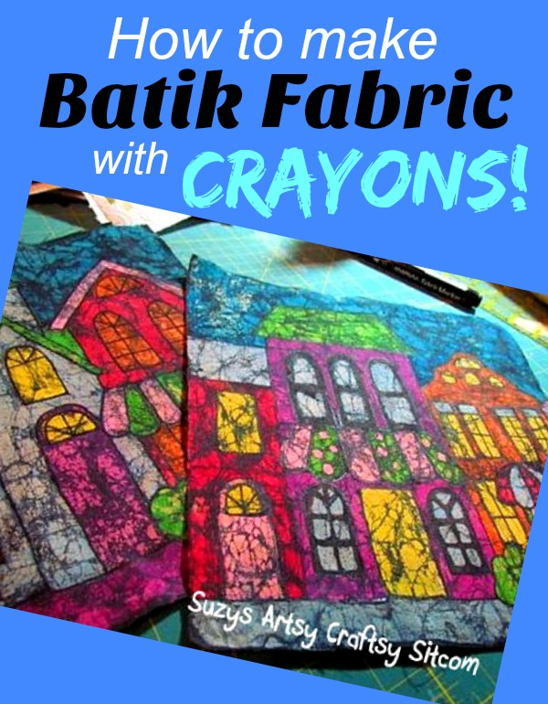 how to make batik fabric with crayons