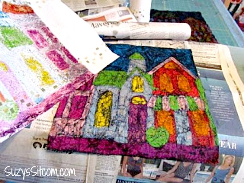how to make batik using wax