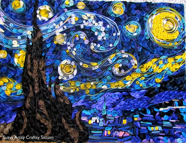 paper crafts quilled starry night