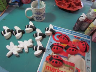 diy tic tac toe game made from plaster