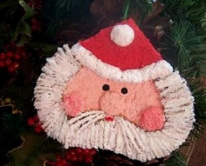 paper mache santa ornament paper crafts