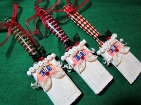 paintbrush santa ornaments recycled crafts