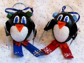 penguin ornaments kids crafts