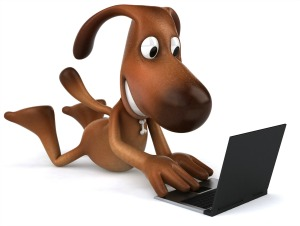 suzys sitcom dog laptop