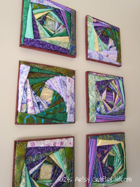 iris folding fabric wall art