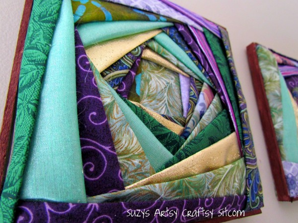 iris folded fabric
