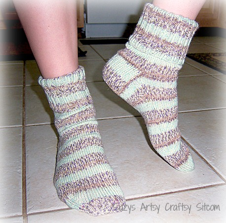 peppermint pattie knitted socks