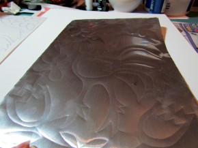 faux punched tin craft from aluminum cookie sheet 4