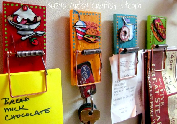 magnetic clips made from mousetraps