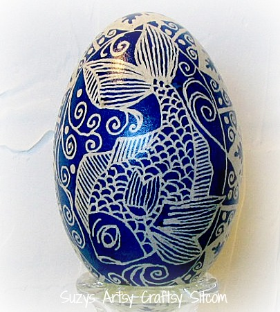 ocean blue fish ukrainian egg