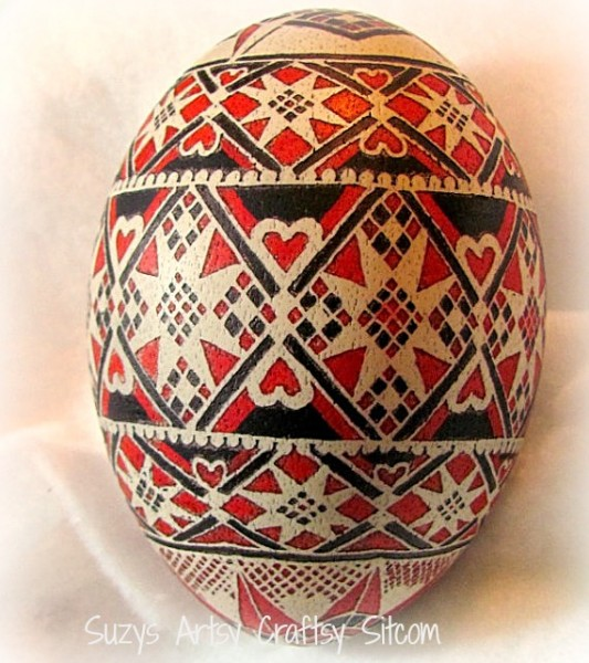 queen of hearts ukrainian egg