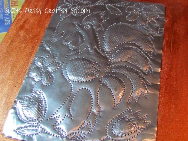 faux punched tin craft from aluminum cookie sheet 16