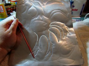 faux punched tin craft from aluminum cookie sheet 7