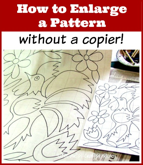 how to enlarge a pattern