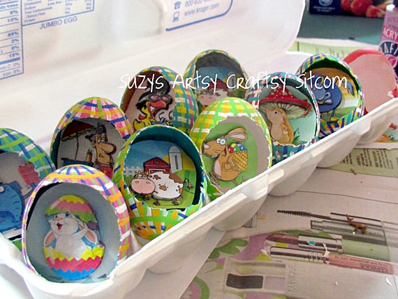 3d scenic egg ornaments
