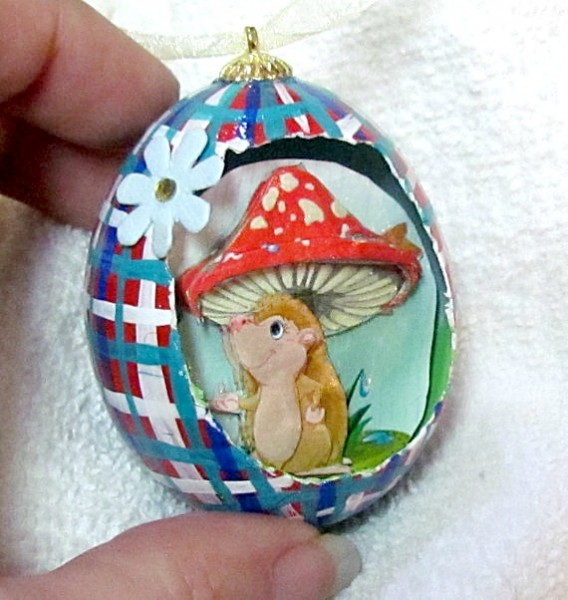 3d scenic egg ornament