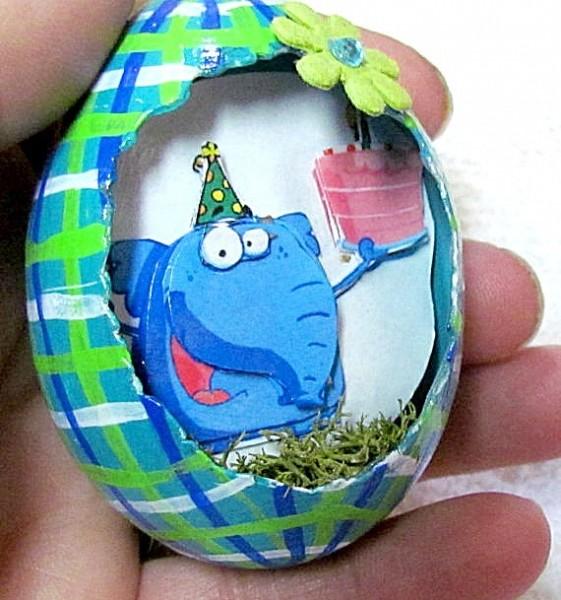 3d scenic egg ornament
