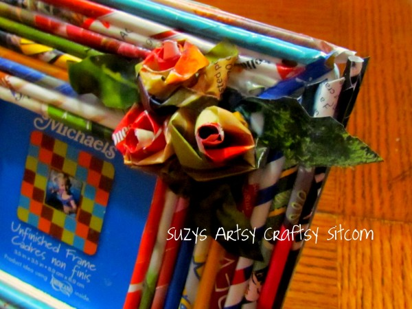 craft paper reed frames from recycled magazines11