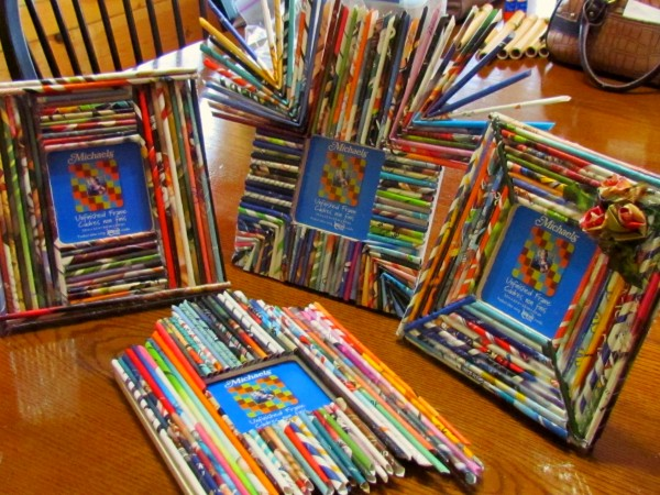 craft paper reed frames from recycled magazines10