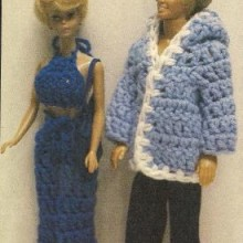 crochet humor- a look at barbies closet