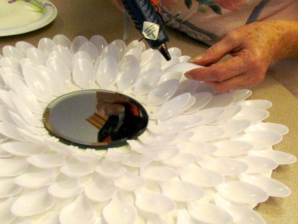 chrysanthemum mirrors made from spoons