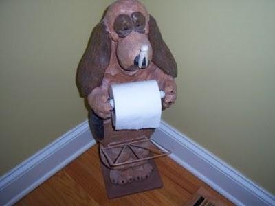 Dachshund Dog Bathroom Toilet Paper Holder Black Proof Dispenser .
