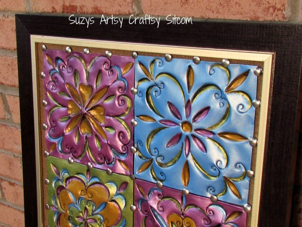 faux tin tiles from disposable cookies sheets