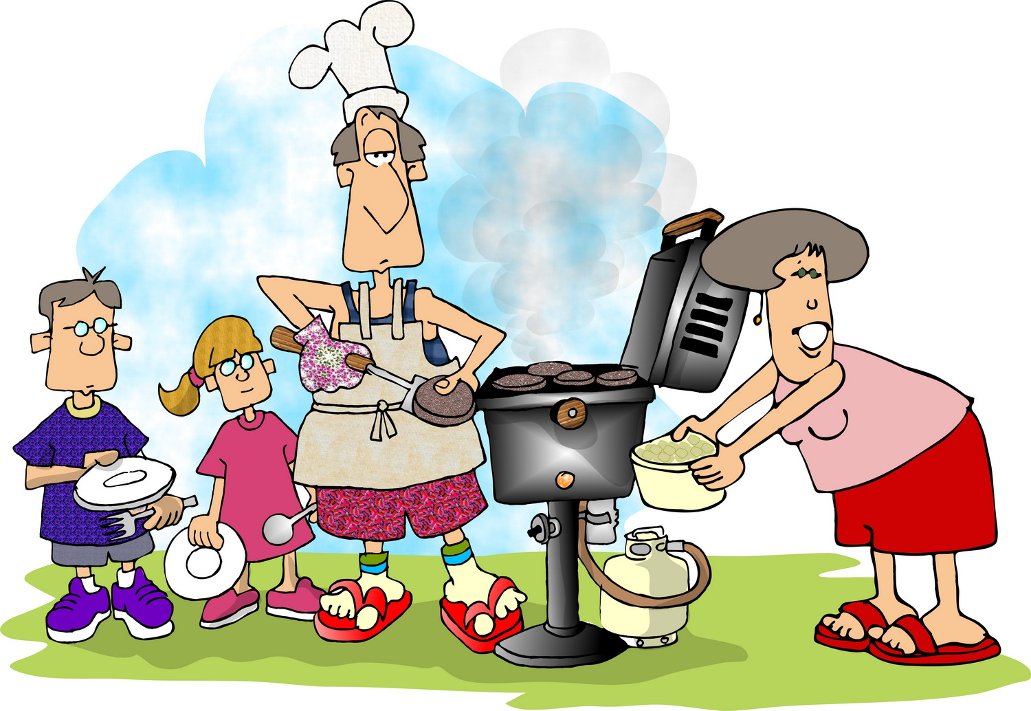 family barbeque picnic