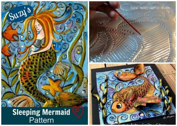 Beautiful art made from embossed disposable cookie sheets
