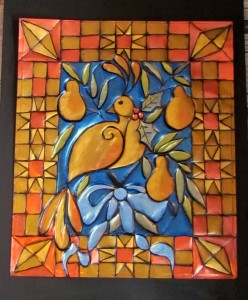 Partridge & Pear Metal art/Suzys Artsy Craftsy Sitcom #pattern #Christmas
