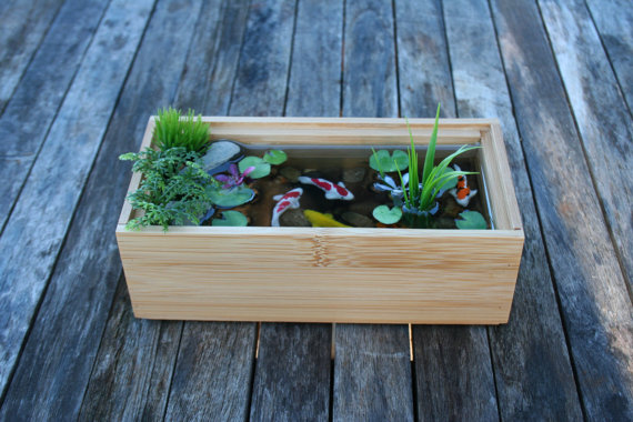 Monday etsy madness beauty of etsy for Miniature fish pond
