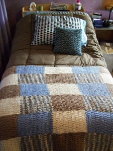 Split Granite Afghan by Heather Gibbs
