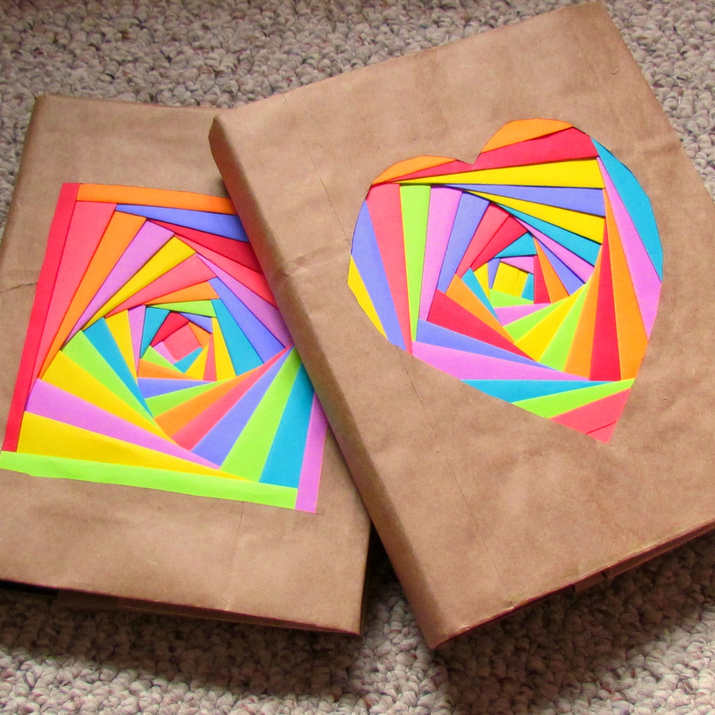 School Project Book Cover : Creating colorful book covers with astrobrights papers