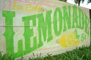 Lemonade Sign/Burton Avenue #stencil #vinyl
