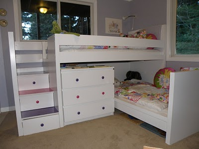 bunk bed ikea hackers this hack was created by stacking two beds on