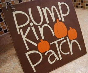 Pumpkin Patch sign/Burton Avenue #Halloween #stencil #vinyl